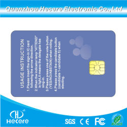 Печати Cmyk пластиковый белый Smart ПВХ контакт FM4442 чип пустым IC для гостиницы