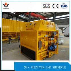 De draagbare Concrete Mixer van de Machines van de Bouw met Dubbele Horizontale Schachten Js2000