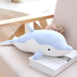 50-80cm Soft Dolphin Plush brinquedos para bebés Doll recheadas de algodão no travesseiro Animal