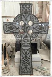 Grafsteen van de Grafzerk van de Grafsteen van het Graniet van de Begraafplaats van Ierland de Dwars Grijze