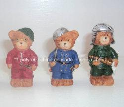 Métiers de petite taille d'ours de Polyresin pour le décor de cadeaux