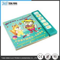 Commerce de gros bouton d'enfants Picture Book avec six bouton poussoir