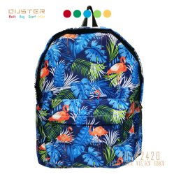 方法浜様式の海岸の一見のBoheimiaのジャングル様式のショッピング・バッグ100%年のポリエステルバックパックのキャンバスのバックパックのハンド・バッグ旅行学生はナイロンジッパーを袋に入れる