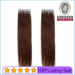 まっすぐのブラウンカラー18inch 100%ブラジルの人間のバージンの毛のマイクロリングの毛の拡張Remyの毛