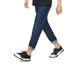 Comercio al por mayor de los pantalones PANTALONES HOMBRE personalizado en blanco azul denim vaqueros lavados