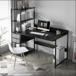Computer Desktop Desk Home Simple Desk Bookshelf combination One Table レンタルベッドルームデスク学生用学習デスク