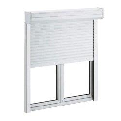 사무실용 롤러 셔터가 있는 UPVC 슬라이딩 창문(Cham-UPV9211RS)
