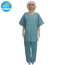 Rotondo-Collo paziente a gettare dell'abito del Nonwoven SMS