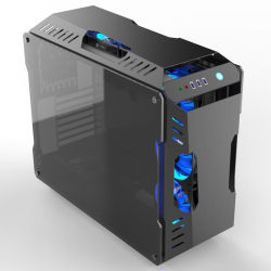 ATX PC Computer-Kasten-Spiel-Fall-Mikrotischplattenfall-Unterstützungs-RGB-Ventilator-Wasserkühlung-Einheit