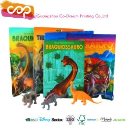 Una increíble cifra de dinosaurios personalizado con el adhesivo de juguete de niños Libro Pack de coser
