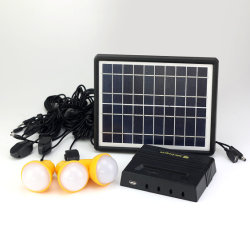 3 LED-lampen/USB-verlichting voor thuis op zonne-energie systeemverlichting voor Home gebruik in Afrika/India/Nigeria/Kenia/Ethiopië landelijke gebieden
