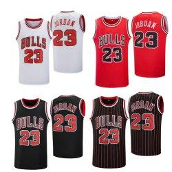 Stieren #23 gestikte Basketbalkleding Goedkope Hoge kwaliteit gestikt Snel Dry Fashion Basketbalshirt