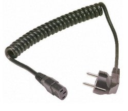 Muelle de PVC personalizadas la longitud del cable en espiral de resorte eléctrico de cable de alimentación, Cable en espiral de alambre de resorte