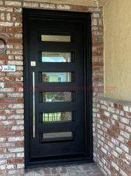 Moderno interior e exterior de frente única entrada de ferro forjado Porta