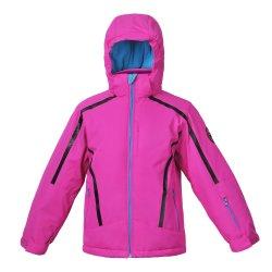 분리되는 두건 분홍색 색깔을%s 가진 형식 겨울 스키 패딩 재킷을 입어 아이들