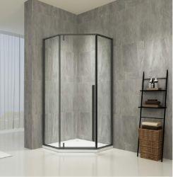 Sala de ducha en negro mate con una larga Hnadle