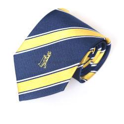 Los hombres de alta calidad de diseño personalizado del 100% tejido de corbata con Logo