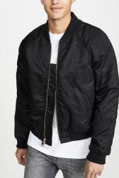 ジャケットの人の冬のウインドブレイカーの卸売の人はナイロンサテンのボマージャケットを嘆く