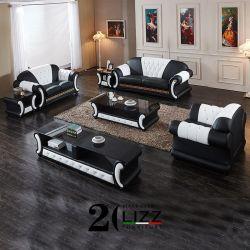 Старинные дома Мебель модульная Версаче Честерфилд подлинной кожаный диван в гостиной