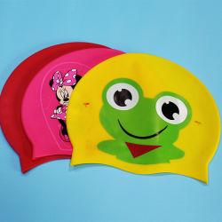 Casquette de natation en silicone étanche Carton casquettes de natation pour hommes et Femmes