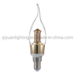 E14 Candle Light 3W, 4W, 5W avec queue utiliser pour le lustre de cristal et de la lampe de luxe