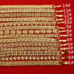 Popular de alta qualidade de cobre 24K bracelete de Ouro da cadeia de relógio Botão Itens simples jóias oco criativas para as mulheres