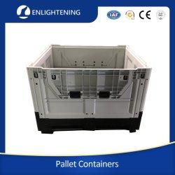 Для тяжелого режима работы крупных Cutom HDPE промышленных наращиваемые склад для хранения складные/СКЛАДЫВАНИЕ/съемные пластиковые коробки для транспортировки поддонов /bin/контейнер для автомобильных деталей/материально-технической