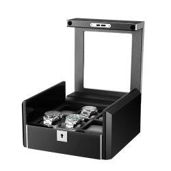 Nouvelle Mode double couche fente 6/12/18 Watch Stoe Boragx collection de bijoux de l'Organiseur de regarder la case avec le verre