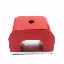 El GNL40 AlNiCo de fundición en forma de U olla profunda imanes con orificio roscado AlNiCo Pot rojo