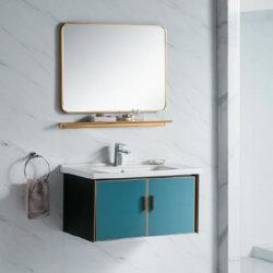 욕실은 허탈한 알루미늄 베이신 알루미늄 배니티 캐비닛을 갖추고 있습니다