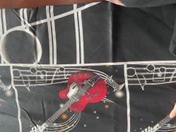 il disegno bucolico 100% della stampa del comitato degli strati di alta qualità del tessuto del lenzuolo del poliestere della stampa di diffusione 75GSM della chitarra ha prodotto dalla tessile del Changxing Rongshun