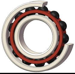 قطر من 10 إلى 60 مم دقة عالية السرعة زاوية نترات السليكون عالية الجودة محمل خزفي بالكرة الملامسة