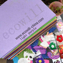 Um4 150gsm, 200 gsm, 250 gsm, 300 gsm, 100% biodegradáveis feitos à mão papel de sementes e Plantable sementes germinadas Papel com erva de flores de sementes de produtos hortícolas