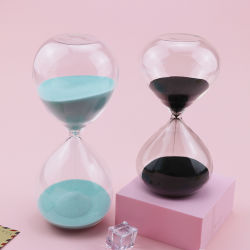 المصنع سعر الجملة ساعة الجدول ساعة ساعة مخصصة ساعة الرمال 60 زجاج الساعة الزخرفي الساعة تحلية الساعة الزجاجية مؤقت للرمال