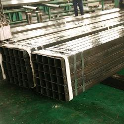 Ms tubo cuadrado de acero negro con aceitados y empaque de PVC