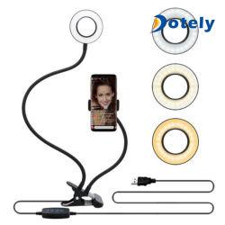 Фиксатор держателя сотового телефона подставка USB-Mini Selfie кольцо лампы