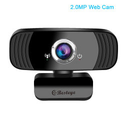 На заводе оптовой свободного драйвера Full HD 1080P 2,0 м пикселей Web cam для ноутбука USB PC камера Android TV поддержка веб-камеры
