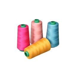 100% 50s/3コアによって回されるポリエステル縫う糸