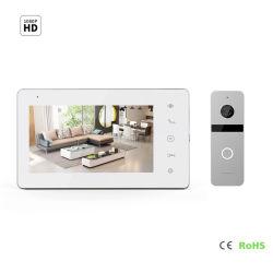 """7 """" inländisches Wertpapier-Türklingel videoDoorphone Interfon des IPS-Bildschirm-HD"""