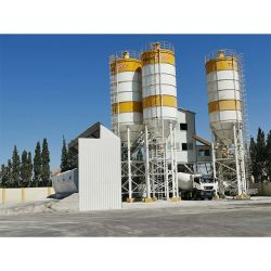 Truemax Maquinaria de concreto mezclador Cbp120s (HZS120) Equipo portátil mezclador concreto Planta de batching