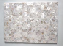 Aus Perlmutt freie weiße Shell-Mosaik-Muster-dekorative Tisch-Oberseite, Badezimmer, Küche-Rückseiten-Spritzen