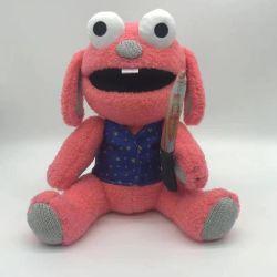Giocattoli Super Soft cute Plush Cartoon personaggio Big Eye con borchie Peluche giocattolo bambino bambola rosa mostro con coltello
