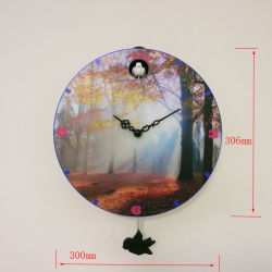 Hermosa casa de alta calidad personalizado decorar Cuco péndulo de reloj de pared