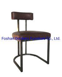 Em pele verdadeira cadeira de metal Cadeira de Aço Inox Chair Hotel Cadeira Cadeira de Jantar Cadeira Café Cadeira Nice Cadeira jovem senhora Presidente