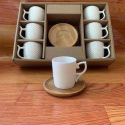 Nouvelle arrivée fine bone China 90cc Espresso tasse avec soucoupe tasses de thé blanc et une soucoupe