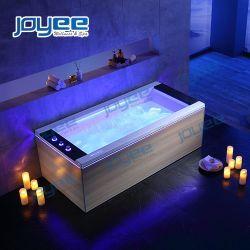 جويس نيو ديزاين حمام فاخر داخلى وحوض استحمام شلال لشخص واحد شخص ذو أشرطة ضوئية LED