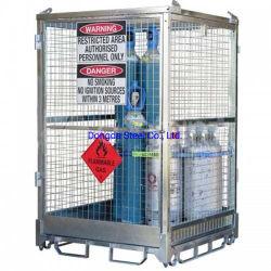 Bottiglie grandi per bombole di gas propano OEM/ODM gabbia GPL propano caldo Gabbia di stoccaggio per bombole di gas in acciaio zincato A IMMERSIONE