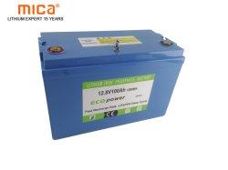 Format personnalisé pris en charge 12/12.8V 100Ah Batterie Lithium-ion batterie LiFePO4 avec 6000 cycles et de longue durée de vie