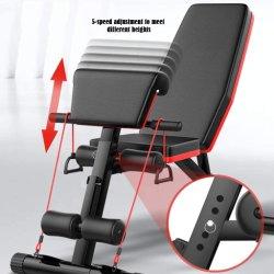 Salle de gym Tabouret pliant multifonction haltère Exercice professionnel d'accueil de l'équipement de levage tabouret Chaise de remise en forme de presse pour établi