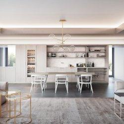 Mobilia materiale personalizzata dell'armadio da cucina del MDF degli armadietti moderni della cucina